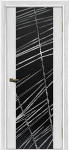 Двери ЛайнДор Камелия тон 38 стекло Графит