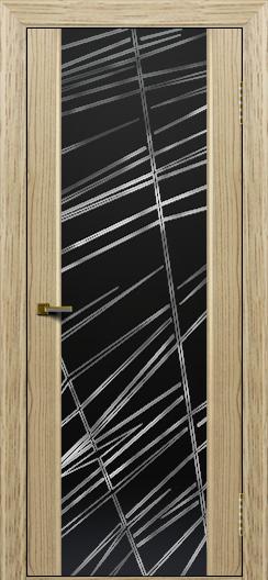 Двери ЛайнДор Камелия тон 40 стекло Графит
