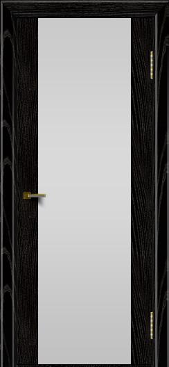 Двери ЛайнДор Камелия черная эмаль тон 26 стекло Белое