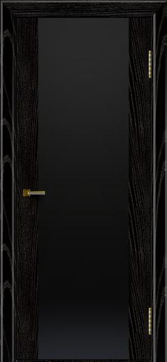 Двери ЛайнДор Камелия черная эмаль тон 26 стекло Черное
