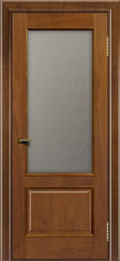 Двери ЛайнДор Кантри американский орех тон 23 стекло Ромб