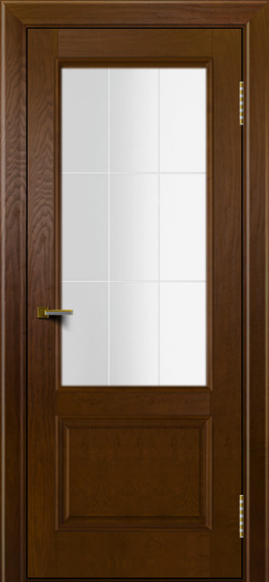 Двери ЛайнДор Кантри тон 30 стекло Решетка
