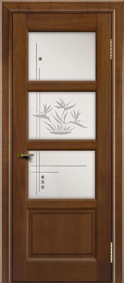 Двери ЛайнДор Классика 2 американский орех тон 23 стекло Классика 3