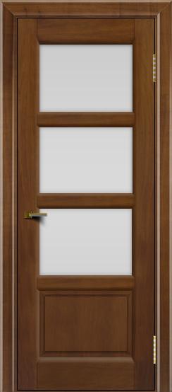 Двери ЛайнДор Классика 2 американский орех тон 23 стекло белое 3