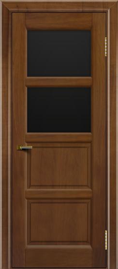 Двери ЛайнДор Классика 2 американский орех тон 23 стекло черное 2