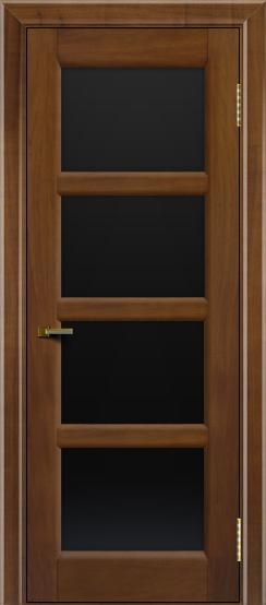 Двери ЛайнДор Классика 2 американский орех тон 23 стекло черное 4