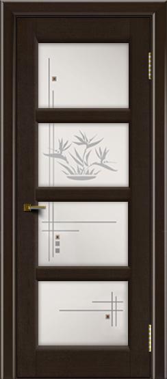 Двери ЛайнДор Классика 2 венге тон 12 стекло Классика 4