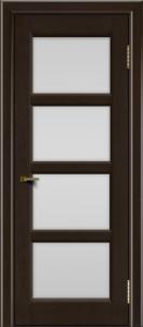 Двери ЛайнДор Классика 2 венге тон 12 стекло белое 4