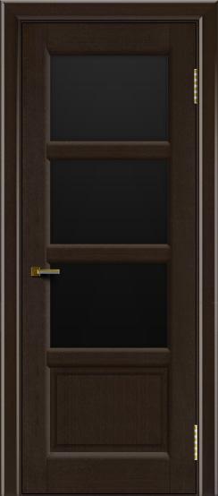 Двери ЛайнДор Классика 2 венге тон 12 стекло черное 3