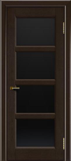 Двери ЛайнДор Классика 2 венге тон 12 стекло черное 4