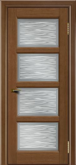 Двери ЛайнДор Классика 2 дуб тон 5 стекло Волна сатин