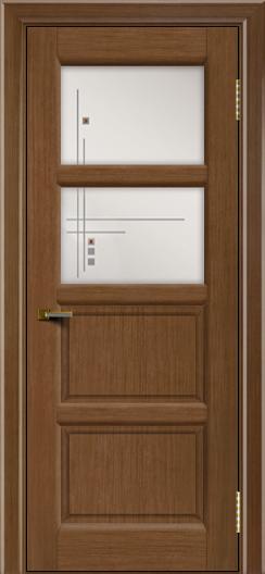Двери ЛайнДор Классика 2 дуб тон 5 стекло Классика 2