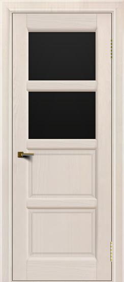 Двери ЛайнДор Классика 2 жемчуг тон 27 стекло черное 2