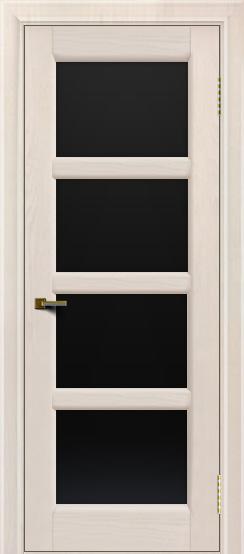 Двери ЛайнДор Классика 2 жемчуг тон 27 стекло черное 4