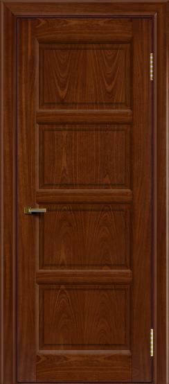 Двери ЛайнДор Классика 2 красное дерево тон 10 глухая