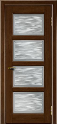 Двери ЛайнДор Классика 2 орех тон 2 стекло Волна сатин