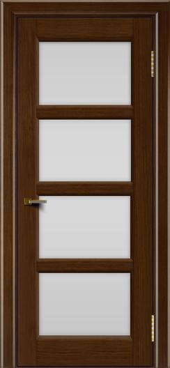 Двери ЛайнДор Классика 2 орех тон 2 стекло белое 4