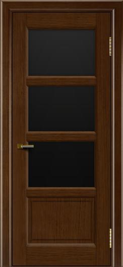 Двери ЛайнДор Классика 2 орех тон 2 стекло черное 3