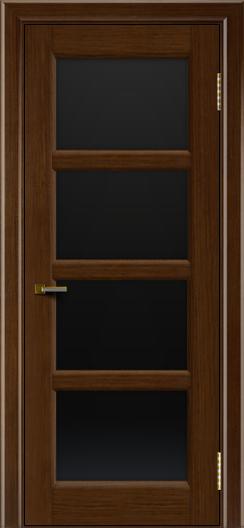 Двери ЛайнДор Классика 2 орех тон 2 стекло черное 4