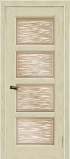Двери ЛайнДор Классика 2 тон 34 стекло Волна бронза