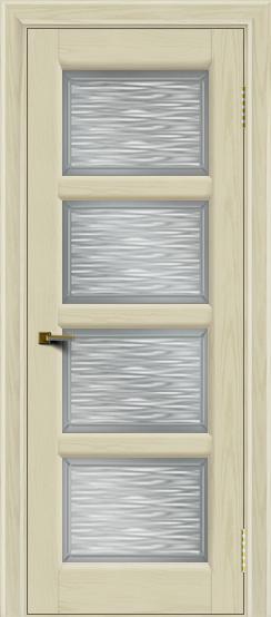 Двери ЛайнДор Классика 2 тон 34 стекло Волна сатин
