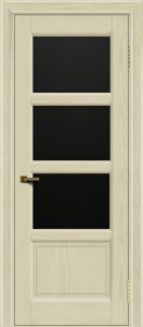 Двери ЛайнДор Классика 2 тон 34 стекло черное 3