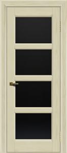 Двери ЛайнДор Классика 2 тон 34 стекло черное 4