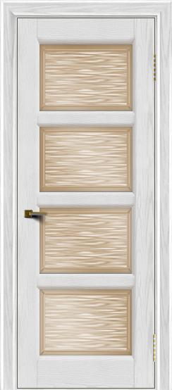 Двери ЛайнДор Классика 2 тон 38 стекло Волна бронза