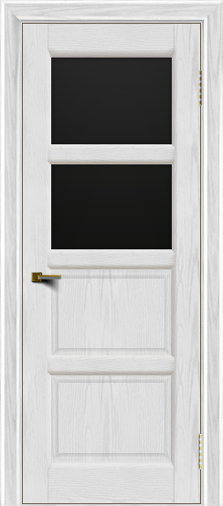 Двери ЛайнДор Классика 2 тон 38 стекло черное 2