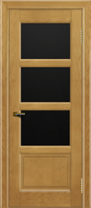 Двери ЛайнДор Классика 2 ясень тон 24 стекло черное 3