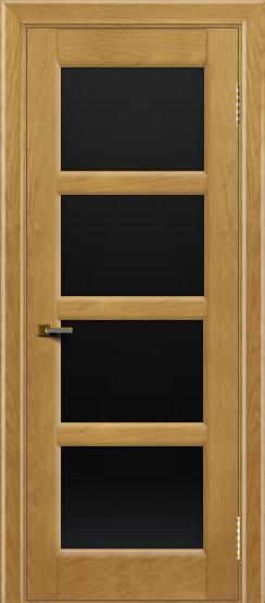 Двери ЛайнДор Классика 2 ясень тон 24 стекло черное 4