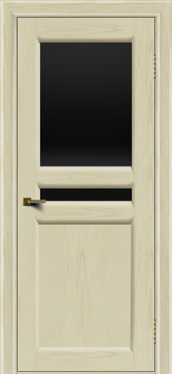 Двери ЛайнДор Кристина 2 тон 34 черное верхнее стекло