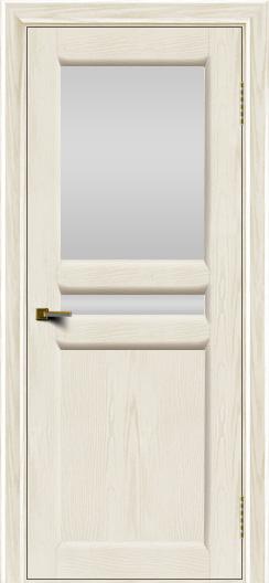 Двери ЛайнДор Кристина 2 тон 36 белое верхнее стекло
