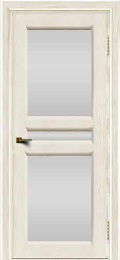 Двери ЛайнДор Кристина 2 тон 36 белое полное стекло