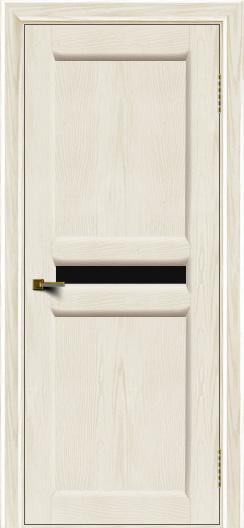 Двери ЛайнДор Кристина 2 тон 36 черное малое стекло