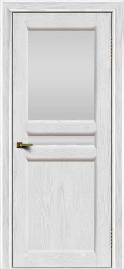 Двери ЛайнДор Кристина 2 тон 38 белое верхнее стекло