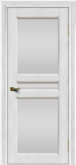 Двери ЛайнДор Кристина 2 тон 38 белое полное стекло