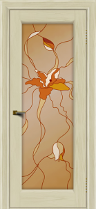 Двери ЛайнДор Мальта 2 тон 34 витраж
