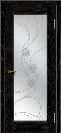Двери ЛайнДор Мальта 2 черная эмаль тон 26 стекло Астра наливка