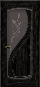 Двери ЛайнДор Новый стиль 2 тон 26 стекло Ирис темное