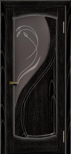 Двери ЛайнДор Новый стиль 2 тон 26 стекло Новый стиль темное