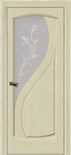 Двери ЛайнДор Новый стиль 2 тон 34 стекло Ирис светлое