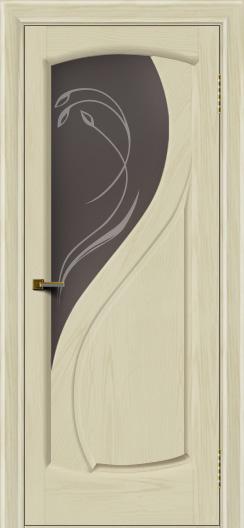 Двери ЛайнДор Новый стиль 2 тон 34 стекло Новый стиль темное