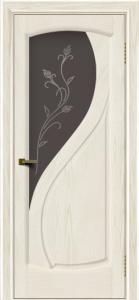 Двери ЛайнДор Новый стиль 2 тон 36 стекло Ирис темное