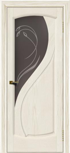 Двери ЛайнДор Новый стиль 2 тон 36 стекло Новый стиль темное