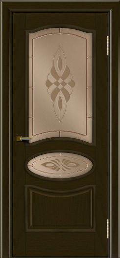 Двери ЛайнДор Оливия тон 35 стекло Византия бронза