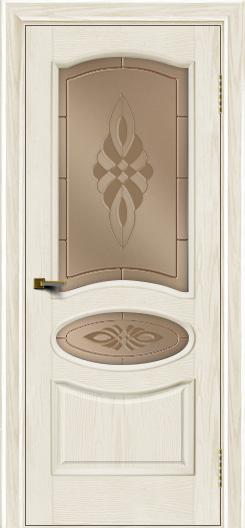 Двери ЛайнДор Оливия тон 36 стекло Византия бронза