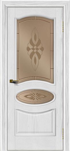 Двери ЛайнДор Оливия тон 38 стекло Византия бронза