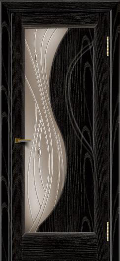 Двери ЛайнДор Прага 2 тон 26 стекло Волна бронза