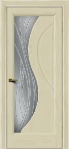 Двери ЛайнДор Прага 2 тон 34 стекло Волна светлое